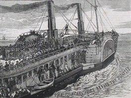 Loď Princess Alice na plavbě před katastrofou