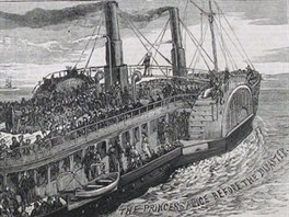 Lo� Princess Alice na plavb� p�ed katastrofou