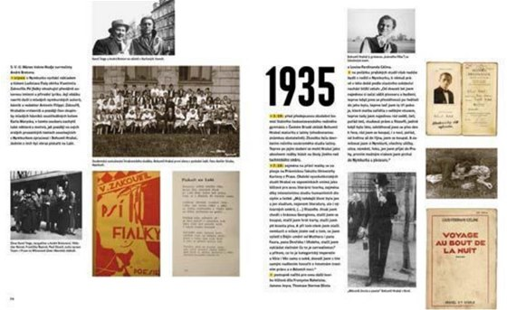Ukázka dvouostrany z knihy Hlučná samota. Sto let Bohumila Hrabala 1914/2014