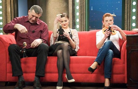 Imrich Bugár, Eva Josefíková a Jarmila Klímová v Show Jana Krause