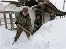 Rumunsko trápí přívaly sněhu (27. ledna 2014)