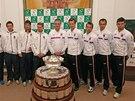 Čeští a nizozemští tenisté před prvním kolem Davis Cupu v Ostravě.