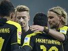 RADOST. Fotbalisté Dortmundu se těší z gólu.