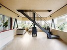 Ukázka interiéru norské dřevostavby
