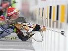 Česká biatlonistka Lea Johanidesová během závodu mistrovství Evropy v Novém...