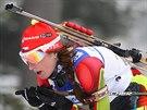 Česká biatlonistka Lea Johanidesová na mistrovství Evropy v Novém Městě.