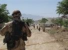 Český voják v provincii Lógar (Afghánistán, 2009)