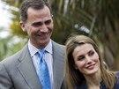 Španělský korunní princ Felipe a princezna Letizia (28. ledna 2014)