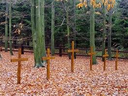 Hromadné hroby ruských a francouzských vojáků na Zámeckém kopci nad Veselíčkem