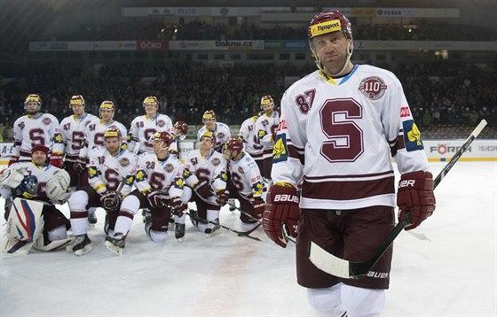 SPARTA REKORDN�. Hokejist� Sparty slav� zisk Prezidentsk�ho poh�ru pro...