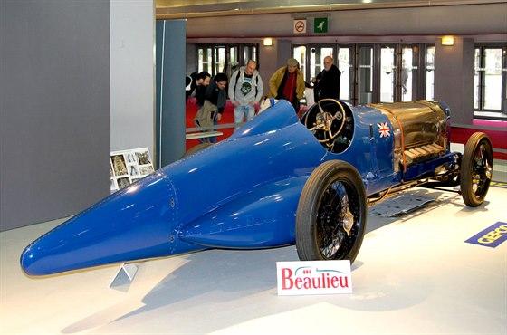 Sunbeam 350 HP alias Blue Bird na letošním ročníku výstavy Rétromobile v Paříži