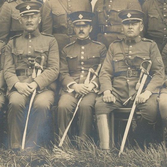 Obr 06 - Josef Povondra Josef Ježek a Oldřich Pinkas.