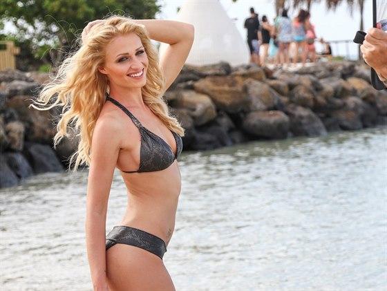 Finalistka sout�e �esk� Miss 2014 Veronika Ka��kov� z Prahy