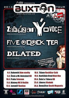 BUXTON TOUR 2014 SERVÍRUJE zakázanÝovoce A FIVE O'CLOCK TEA