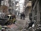 Ulice Homsu místy připomínají džungli (1. února 2014)