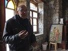 Jezuitsk� kn�z Frans van der Lugt je z�ejm� posledn�m cizincem v oble�en�m...