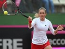 Česká tenistka Klára Zakopalová hraje v 1. kole Fed Cupu proti španělské dvojce