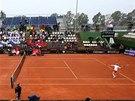 O DRUHÝ BOD. Česká tenistka Klára Zakopalová (napravo) bojuje o vyrovnání