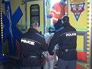 Policisté zasahovali v panelovém domě na Zličíně, kde cizinec (na snímku ho