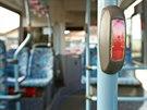 Interiér elektrobusu SOR EBN 8