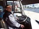 Elektrobus SOR EBN 8 - kabina řidiče