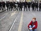 Ze solidarity s lidmi v Tuzle se do Sarajeva sjeli další protestující. Na...