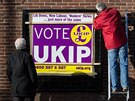 Předvolební plakát UKIP v Manchesteru. Populistická protiimigrantská strana...