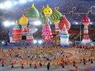 Slavnostní zahajovací ceremoniál zimních olympijských her v Soči. (7. února...