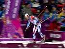 Český biatlonista Michal Šlesingr při závodu na 10 kilometrů v zimním středisku Laura. (8. února 2014)