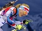Česká biatlonistka Gabriela Soukalová při závodu ve sprintu na 7,5 kilometru....