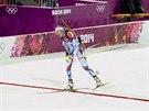 Česká biatlonistka Gabriela Soukalová v cíli závodu ve sprintu na 7,5...