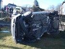 Neobvyklá nehoda v Těrlicku na Karvinsku nakonec naštěstí měla jen malé...