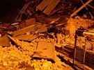 Zničený dům v Ostravě-Martinově po výbuchu plynu. (5. února 2014)
