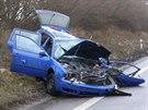 Nehoda na silnici č. 1/16 u Holína ve směru od Jičína na Mladou Boleslav. (3....