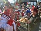 Třicítka masopustních maškar prošla v sobotu skanzenem na Veselém Kopci. (8....