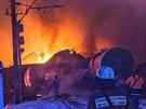 Vykolejení vlaku s cisternami plynu v Kirově