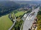 Vizualizace budoucí podoby nádraží v Ústí nad Orlicí. Před starou nádražní...