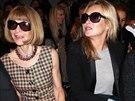Kate Mossová s šéfredaktorkou časopisu Vogue Annou Wintourovou