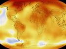 Goddard�v institut sestavil p�ehled teplotn�ch anom�li� od roku 1880 do roku...