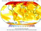 Mapa ukazuje, kde se prosincov� teploty posledn�ch deseti let nejv�ce li�� od...