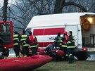 Hasiči v neděli na Vltavě likvidoval dvoukilometrovou ropnou skvrnu.