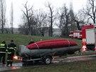 Kvůli ropné skvrně na Vltavě hasiči zasahovali i na Štvanici.