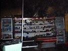 Čtyři jednotky hasičů nemusely v mohelnickém obchodu hasit plameny, i tak ale...