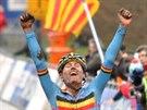 BELGICKÉ ZLATO. Juniorský závodník Thijs Aerts slaví titul mistra světa.