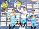 TŘI MEDAILISTÉ. Juniorský závod na mistrovství světa cyklokrosařů opanovali...