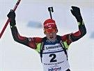 Adam Václavík si jede pro juniorský bronz ve stíhacím závodě na ME v Novém...