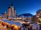 Zimní nálada na náměstí v Mariazellu
