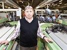 Ředitel Rudolf Paar v tkalcovně společnosti Nyklíček v Novém Městě nad Metují