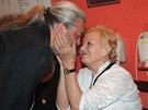 Daniel H�lka s maminkou