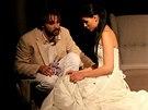 Lilian Sarah Fischerov� a jej� man�el Adam Vacula ve h�e Dokonal� svatba